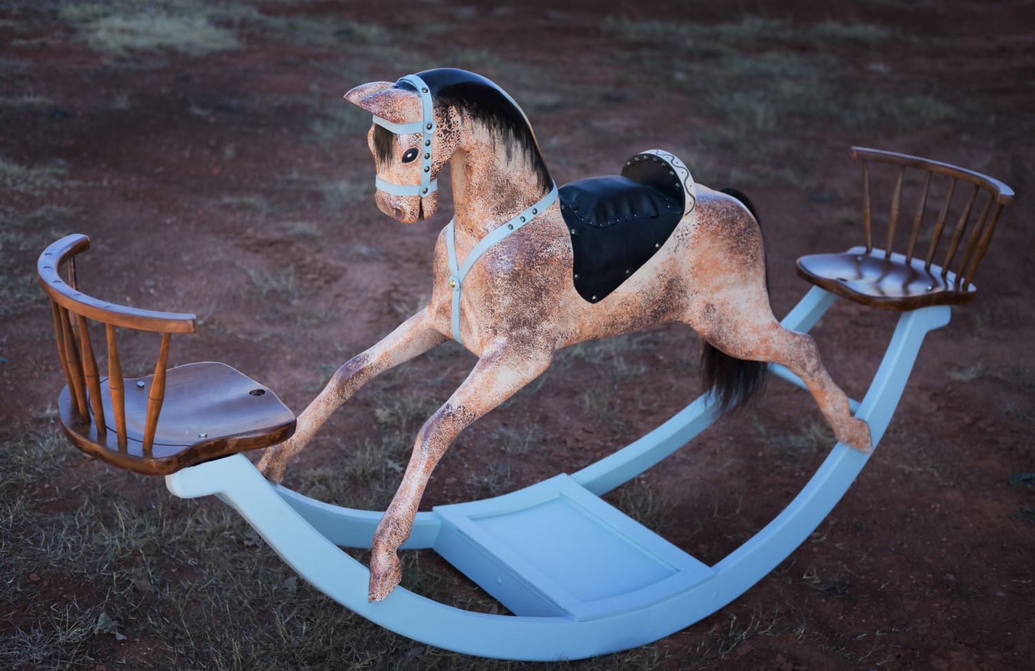 Wilson rocking horses home for Hand crafted rocking horse