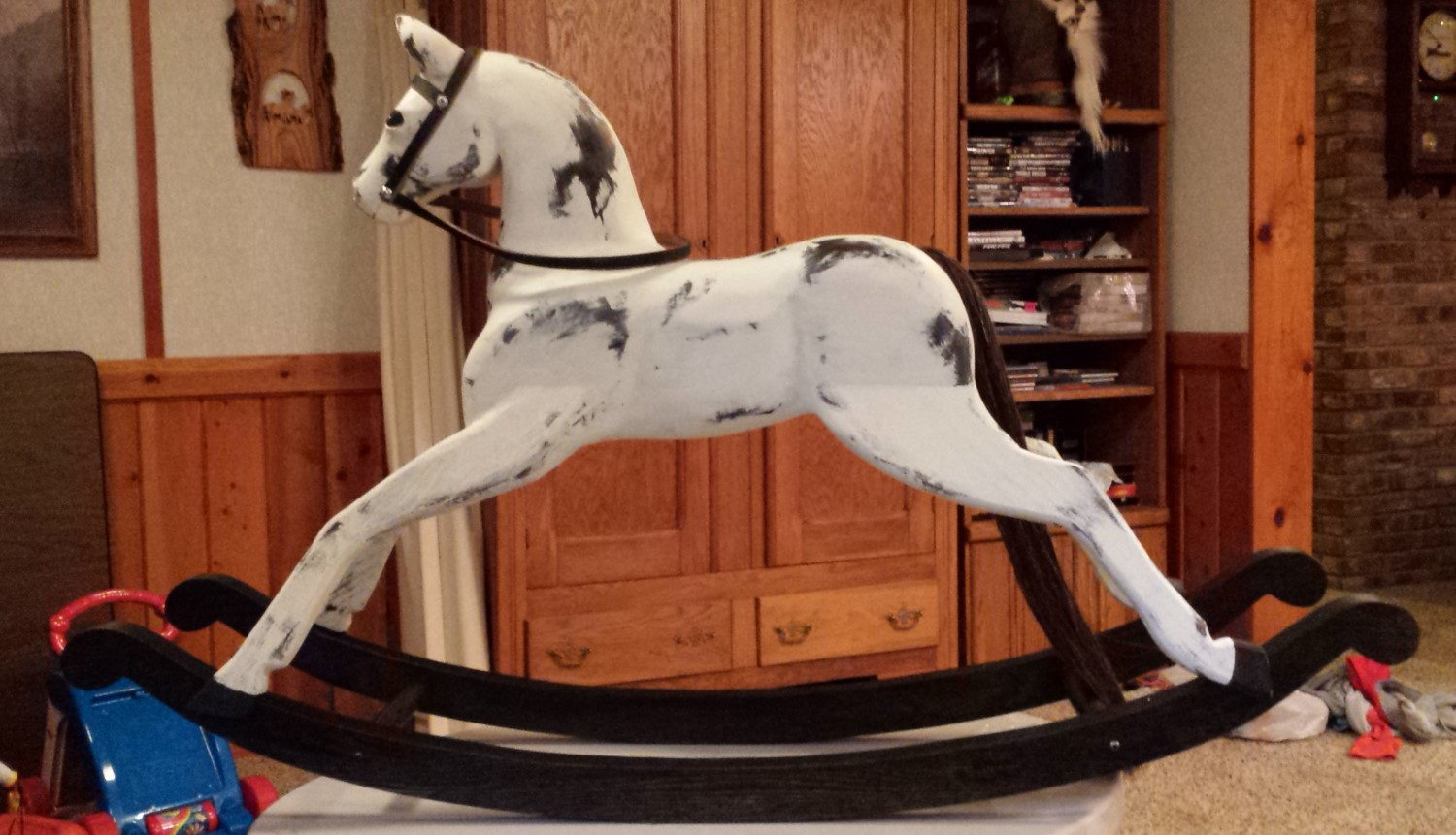 Wilson rocking horses rocking horse styles for Hand crafted rocking horse
